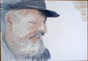 Portrait in watercolour