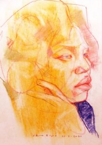 Frank Gambino -Angelica -Chalk pastel/chalk pastel pencil
