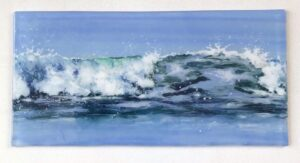 Jane Reeves-Seascape-Fused Glass