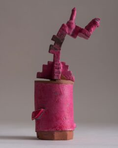 Richard Crooks -A Rose View-Fired terracotta with glazes/slips/acrylic paint